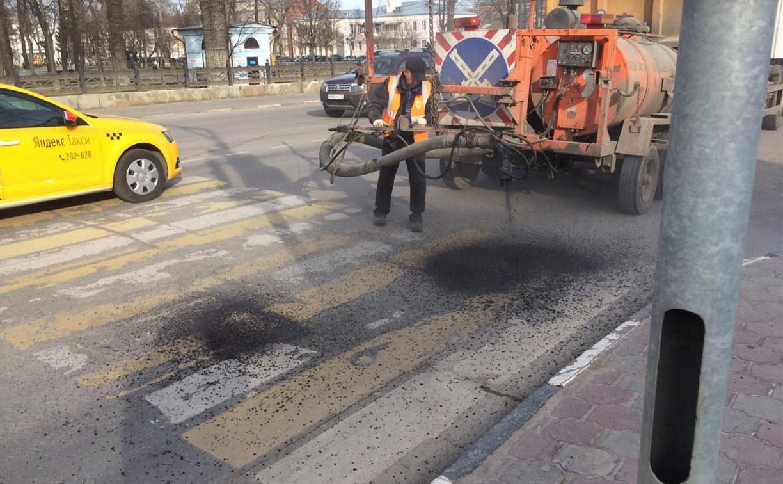 В Туле выполняют ямочный ремонт дорог