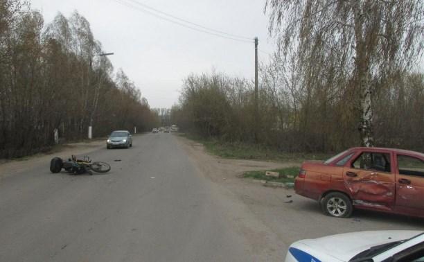 В аварии в Донском пострадал водитель мотоцикла