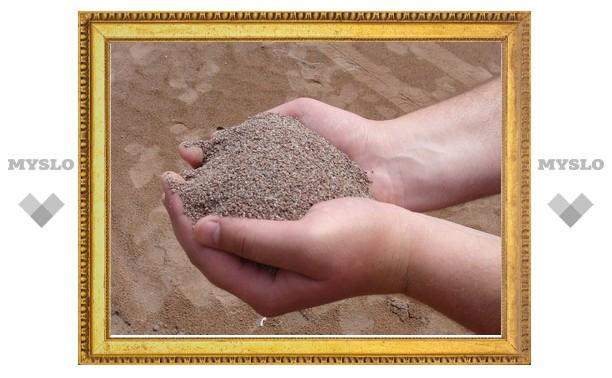 В Тульской области у должника наложили арест на речной песок