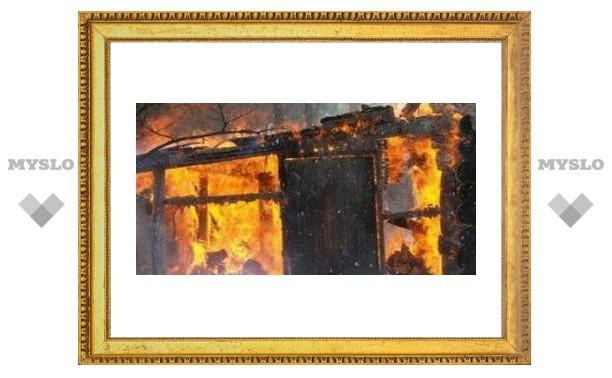 Тулячка сгорела в собственном доме