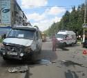 В Новомосковске произошла авария с участием автомобиля скорой помощи