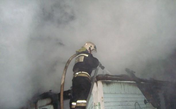 На пожаре в Узловском районе погиб мужчина