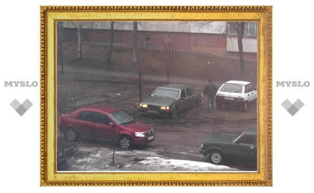 Бульвар молодежи в Заречье превратился в парковку