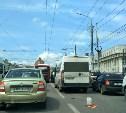 ДТП на ул. Советской в Туле спровоцировало огромную пробку