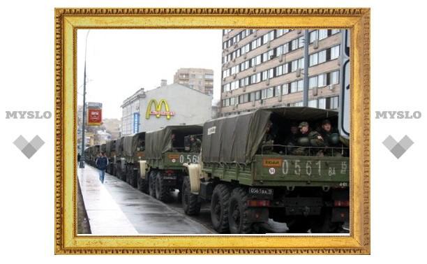 Тульских военных пока не привлекли к охране порядка в Москве