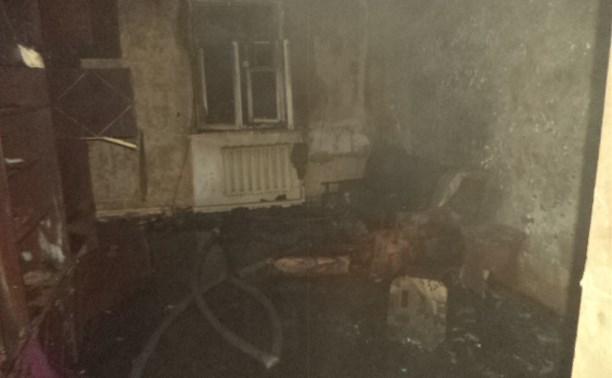 Щекинские пожарные спасли женщину из горящей квартиры