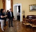 Алексей Дюмин осмотрел  Богородицкий дворец-музей и парк