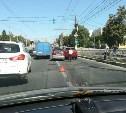 Из-за ДТП в Туле на Пролетарском мосту образовалась пробка