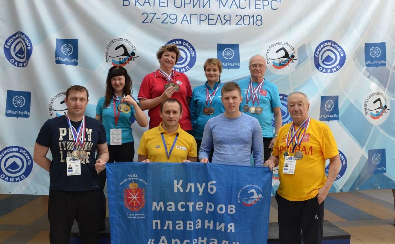 Тульские ветераны плавания вернулись с чемпионата России с победой