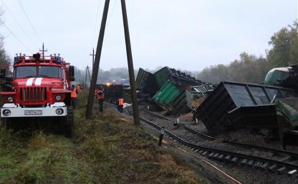 Крушение поезда в Тульской области: машинист экстренно затормозил после удара