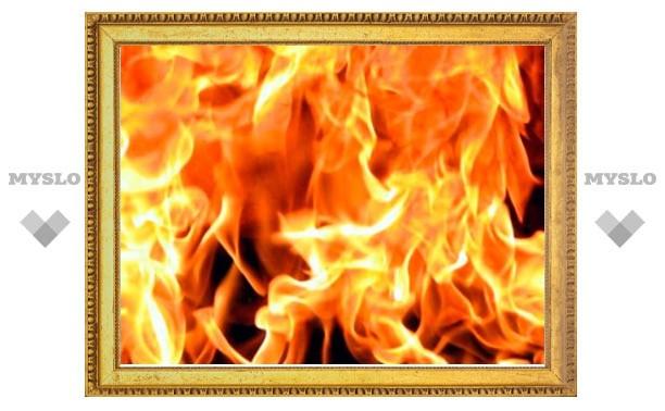 В Богородицке горит 2-подъездный жилой дом