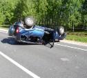 В Суворовском районе в результате столкновения перевернулись два автомобиля