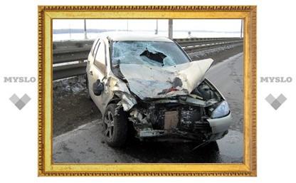 Водитель заснул за рулем легковушки
