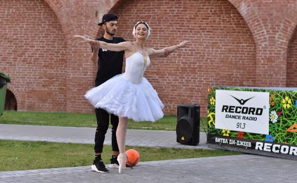 «Футбол-пати» в Туле: баттл балерины и футболиста, «поцелуй» Акинфеева и футбол в юбке