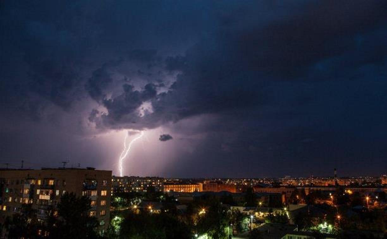В Тульской области объявлен желтый уровень погодной опасности из-за сильного дождя и грозы