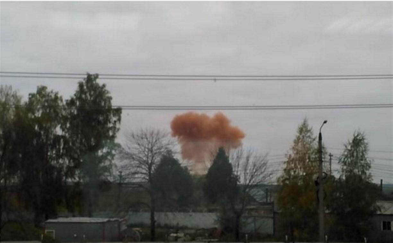 Утром в небе над Тулой появилось странное оранжевое облако