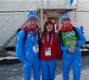 Тулячка лично поздравила наших лыжников с «серебром»