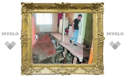 В Теплом квартира провалилась в подвал