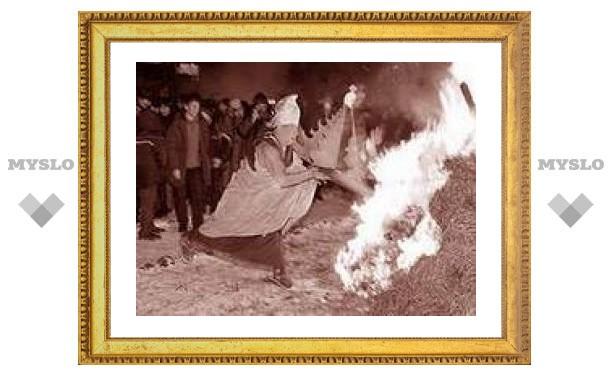 Перед встречей Года Огненной Свиньи буддисты Бурятии сжигают символы грехов