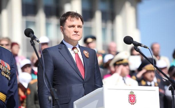 Владимир Груздев поздравил жителей Тульской области с Днём Победы