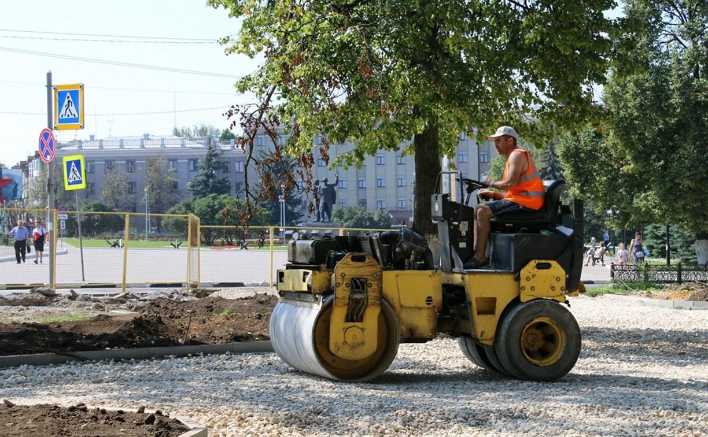 Как в Туле проходит ремонт Болдинского и Студенческого скверов: фото