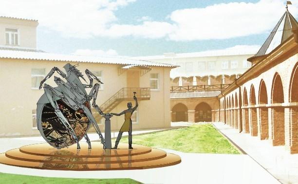 Памятник блохе-киборгу готов на 80%