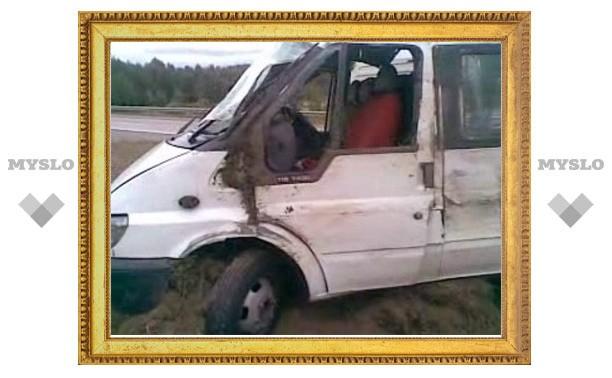 Фура протаранила маршрутку «Тула-Москва»