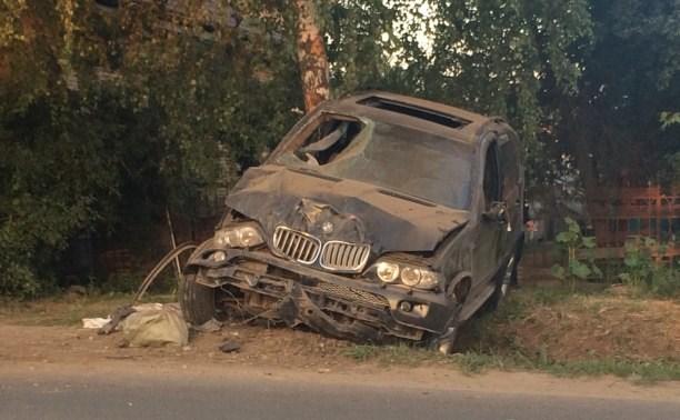 Вечером 13 июня в Скуратово «взлетел» BMW