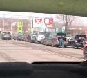 На улице Октябрьской столкнулись 8 автомобилей