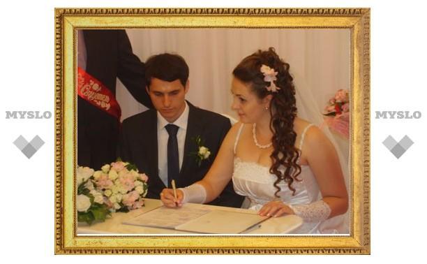 Владимир Груздев передал свои поздравления тульским молодоженам