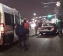 В Туле лихач подрезал маршрутку, которая затем сбила пешехода: видео