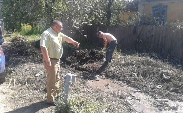 В Пролетарском районе Тулы обустраивают ливневку
