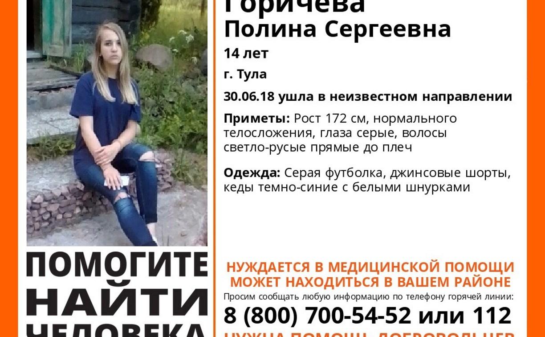 Туляков просят помочь в поиске пропавшей девушки