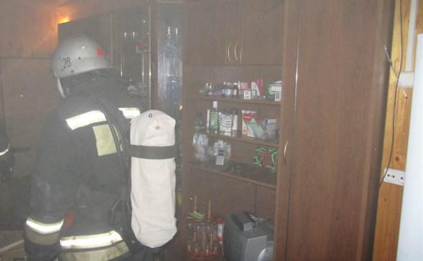В Алексине в дачном доме при пожаре пострадал пенсионер