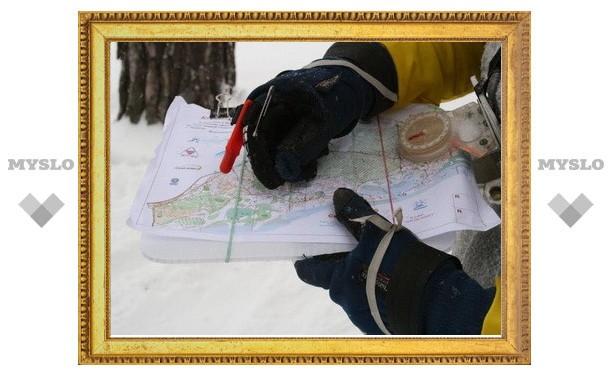 Тульские ориентировщики на лыжах посоревновались на Косой Горе