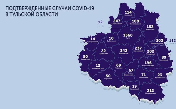 В каких городах и селах Тульской области есть коронавирус: карта на 4 июня