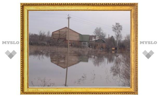 Под Тулой деревня из нескольких десятков домов, по словам жителей, скрывается под воду