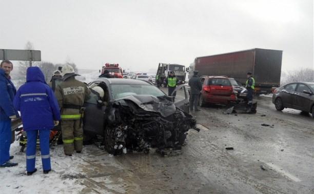 Утром 5 марта на Калужском шоссе столкнулись «Киа Сид» и «Сузуки SХ-4»