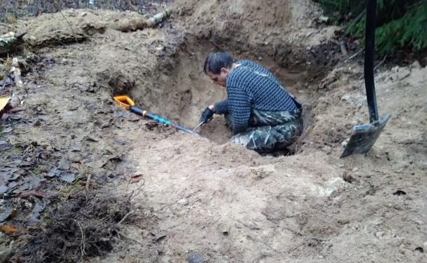 В Тульской области поисковики обнаружили захоронение бойцов Красной Армии