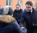 Кимовские новоселы получили ключи из рук губернатора Владимира Груздева