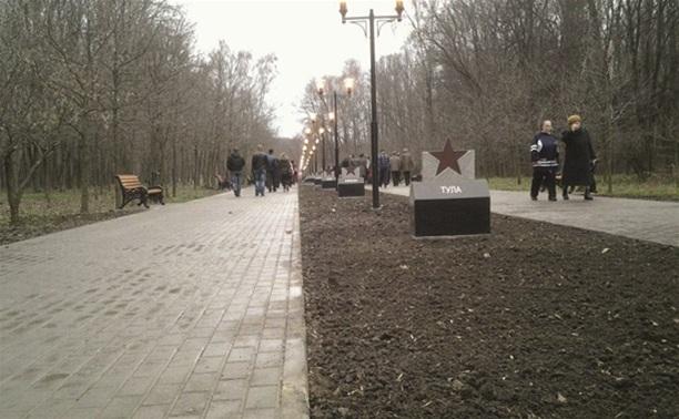 Полиция разыскивает вандалов, испортивших монумент на аллее Победителей в Центральном парке Тулы