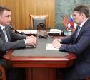 Алексей Дюмин провел встречу с Евгением Авиловым относительно сноса домов в Плеханово