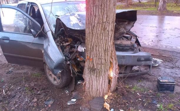 Пьяная женщина на «Хёндэ Гетц» врезалась в дерево