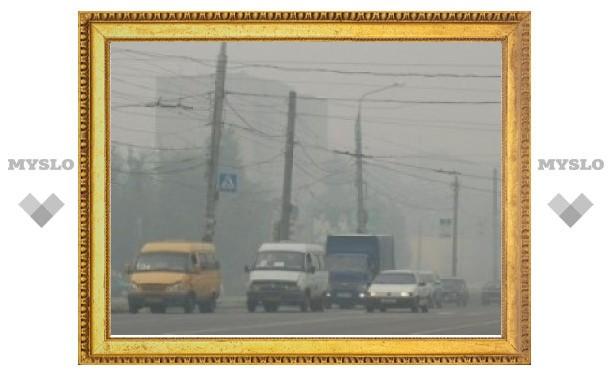 Самый едкий дым был накануне в Алексине