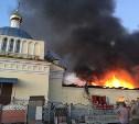 Крупный пожар: под Тулой загорелась Никольская церковь