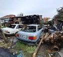 Крупный пожар в тульском Заречье: в выгоревшем доме найдено оружие и боеприпасы