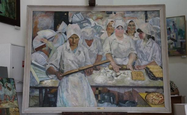 Ко Дню пряника в Выставочном зале открылась выставка одной работы - «Пряничницы»