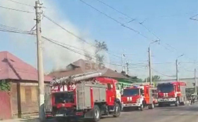 Из-за пожара частично перекрыта ул. Оборонная в Туле