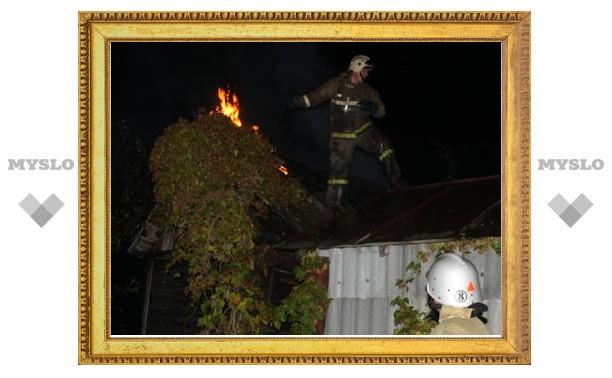 Пожар полностью уничтожил жилой дом в Туле