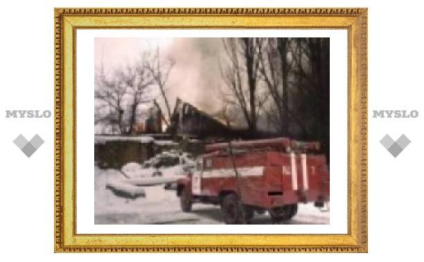 Под Тулой сгорел дачник